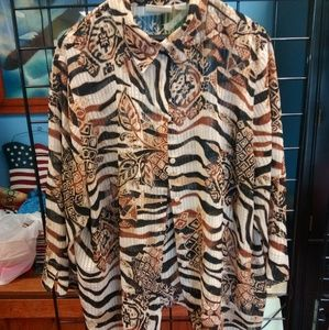 Alfred dunner semi sheer size 22w animal print